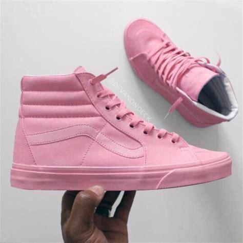 shoes pastel sneakers pastel pink sk8 hi sneakers