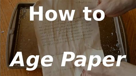 How To Bake Paper To Make It Look - fast hacks 10 how to age paper
