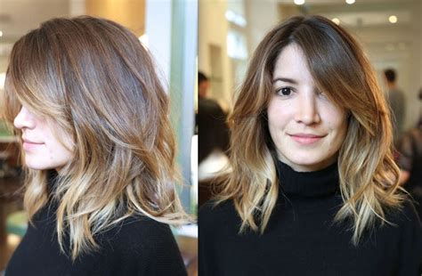 clavicle length ombre hair mid length hair ombre short hair pinterest cut and