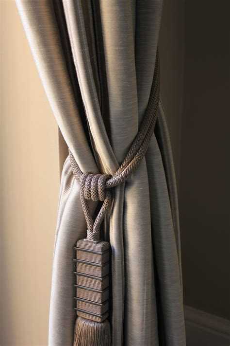 houles drapery hardware customers landing curtains beautifully tied back curtain