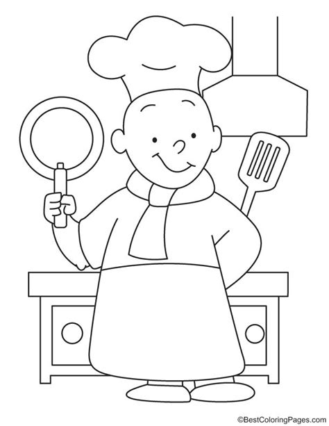 coloring pages kitchen utensils cartoon cooking utensils