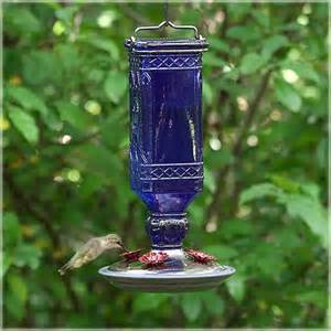 hummingbird feeder square glass vintage decorative feeder