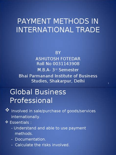 Letter Of Credit Kuwait payment methods in international trade letter of credit