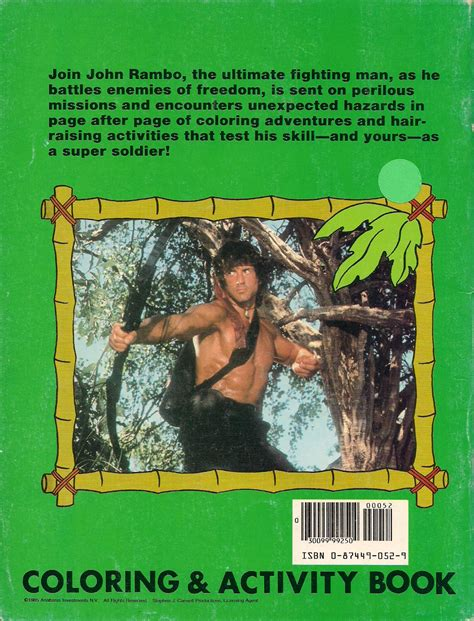 rambo coloring book for sale phoney fresh rambo coloring book 1985