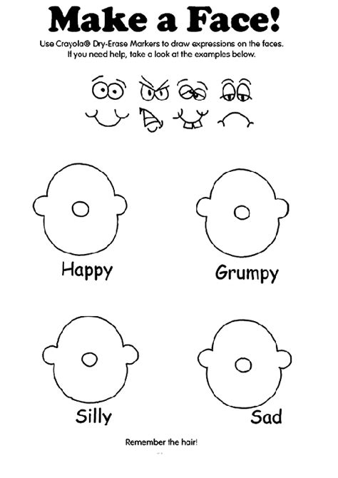make a face coloring page mood emotions pinterest