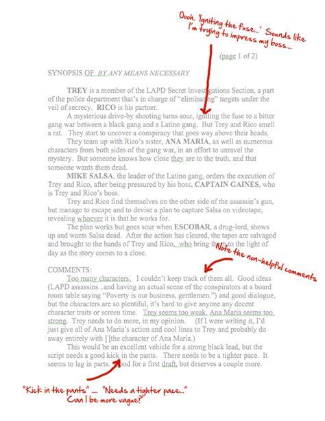 script coverage template my script coverage for media artists in 1994