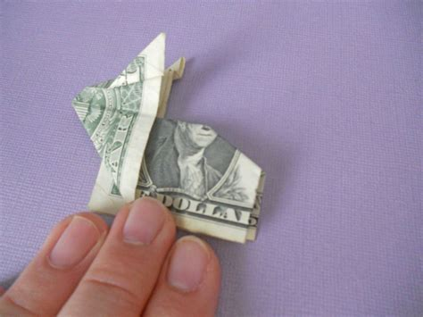 Dollar Bill Origami Rabbit - how to make an origami bunny out of money