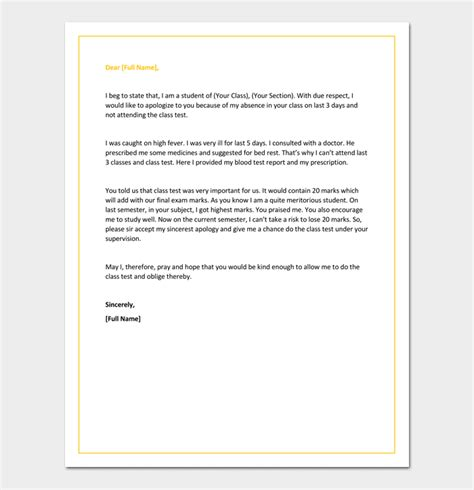 Apology Letter To For Absence Without Notice Sle Letter Of Apology For Absence Without Notice Cover Letter Templates