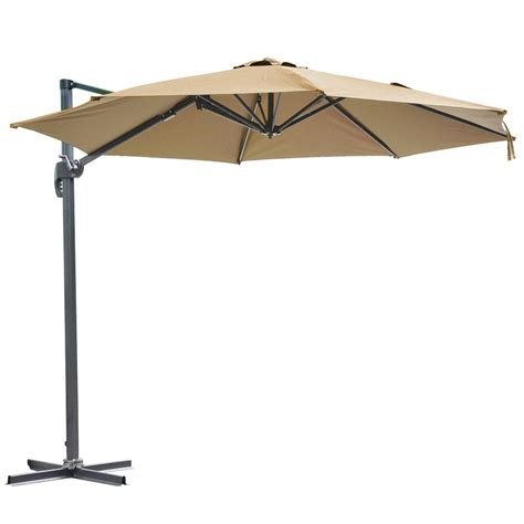 Offset Patio Umbrella With Base 10 Deluxe Patio Hanging Roma Offset Umbrella Outdoor Cantilever Crank W Base Ebay