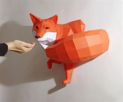 paper craft animals paperwolf feel desain