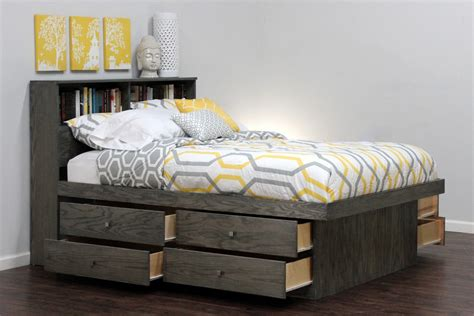 platform bed with storage queen drawer pedestal beds storage beds under bed storage