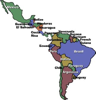 map of central and south america a country of immigrants task