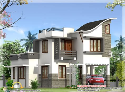 indian modern house plans contemporary indian style villa 1900 sq ft kerala home design and floor plans