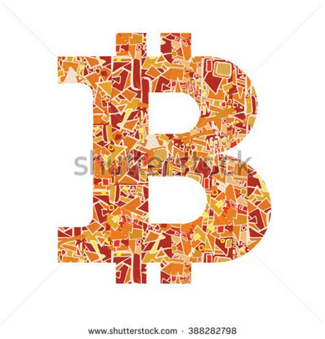 Bitcoin Decorative Vector Symbol Stock Vector 349413212