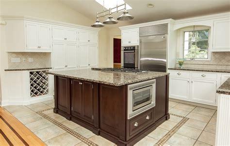 Updated Kitchen with White & Dark Cherry Modern Cabinets