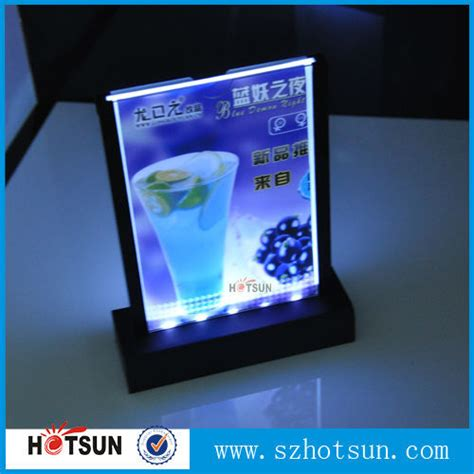 led light stand for acrylic led light acrylic table stand menu holder buy table