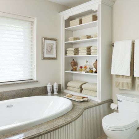 shelves in bathroom ideas home dzine bathrooms ideas for bathroom shelves