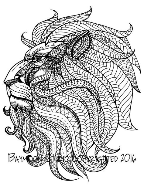 lion coloring page for adults royal lion head adult coloring pages adult colouring