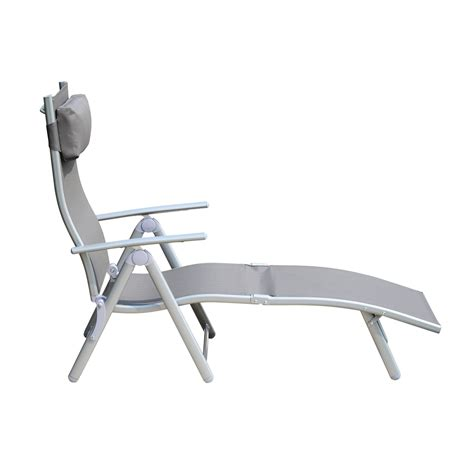 reclining chaise chair outsunny patio reclining chaise lounge chair with cushion