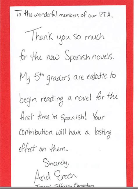 Thank You Letter Kindergarten Preschool Thank You Note Just B Cause