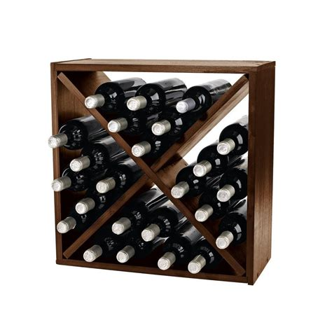 wine enthusiast compact cellar 12 in w cube wine rack in