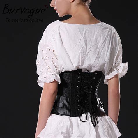 Baru Shaper Slim Waist burvogue coklat tulang baja hitam korset corselets
