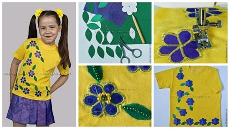 How To Sew Applique by How To Sew Applique On The Children S Yellow T Shirt