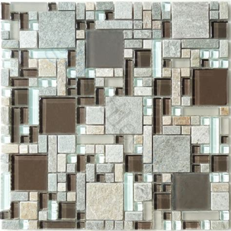 mocha unique shapes brown backsplash glossy frosted