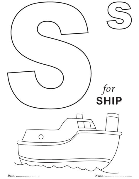 Galerry coloring pages for preschoolers of the alphabet