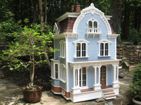 dollhouse outside blue dollhouse this style