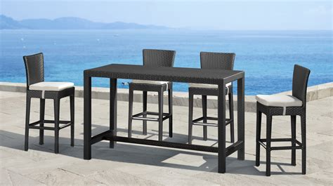 High Bistro Table Set Outdoor High Table And Chair Patio Set Chairs Seating