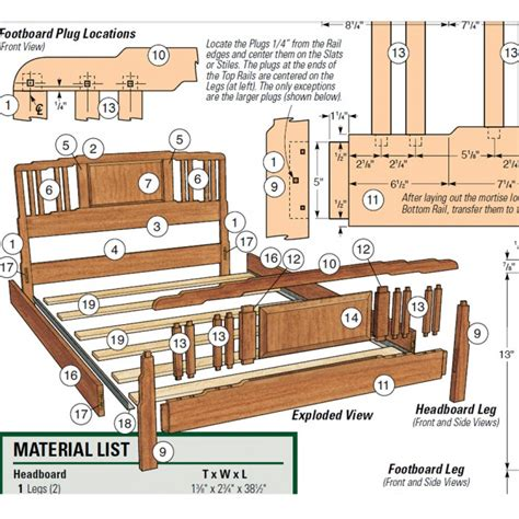 downloadable woodworking plans greene and greene inspired bed downloadable plan