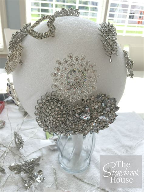 Wedding Bouquet Made Of Brooches by The Stonybrook House How To Make A Beautiful Brooch Bouquet
