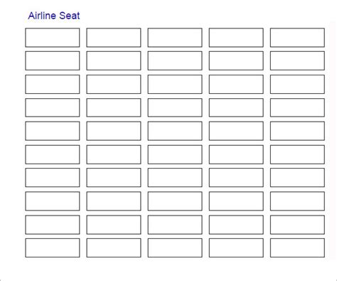 excel seating plan template sle seating chart template 6 free documents in pdf