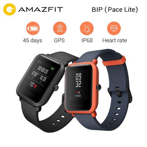 Xiaomi Amazfit Internasional Upversion Smartwatch With Rate Gps aliexpress buy xiaomi huami amazfit bip bit pace sports smart youth edition gps