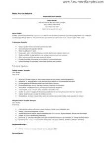 free rn resume sles registered resume sle