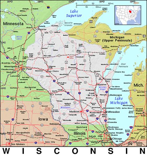 County Wi Property Records 100 Map Of Wi Geoatlas United States Canada