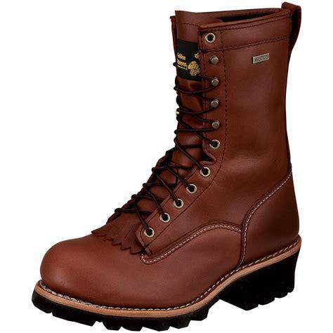 golden retriever work boots s 9 quot golden retriever 174 waterproof vibram logger work boots 174140 work boots