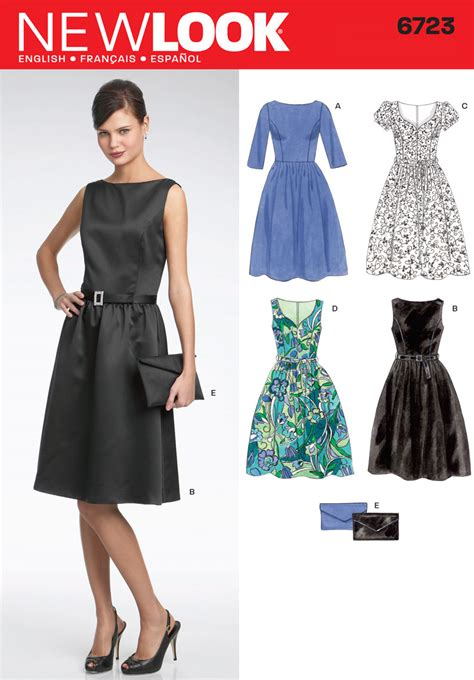 new pattern dress images 6723 new look pattern misses day or evening dress plus clutch