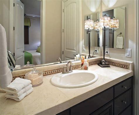 Inexpensive Bathroom Makeover Ideas Bathroom Countertop Accessories
