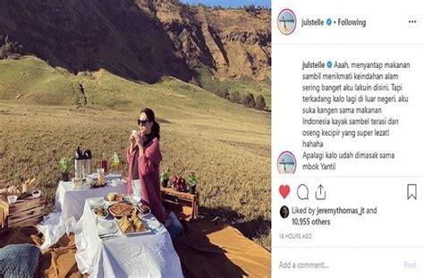 makan cantik  luar negeri julie estelle malah kangen