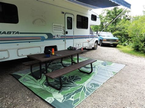 rv mat patio mat blossom reversible green and grey outdoor