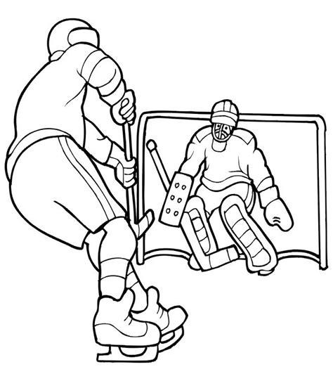 imprime le dessin 224 colorier de hockey
