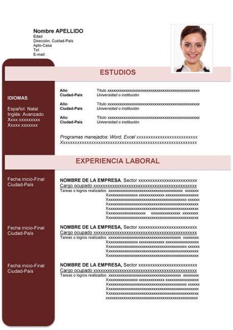 curriculum vitae moderno curriculum vitae plantilla ejemplo de curriculum vitae moderno para descargar en word