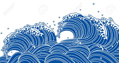 japanese pattern drawing blue wave japanese style landscapes water pinterest