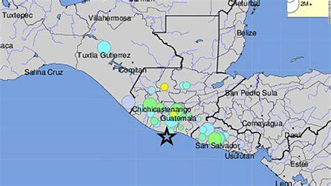 san jose earthquake map usgs 6 8 earthquake of guatemala s pacific coast usgs says