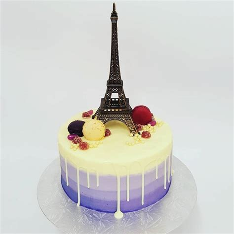 purple ombre cake  white chocolate drip  eiffel tower  girl   swing