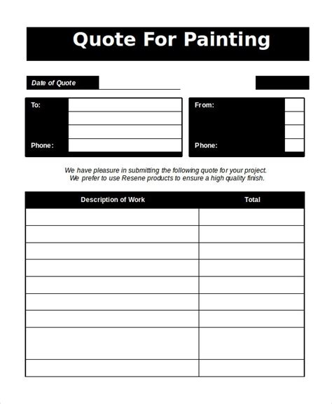 template for painting painting estimate template 2018 world of reference