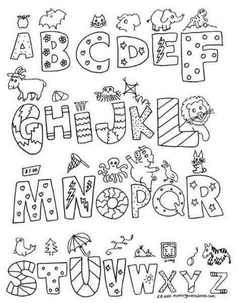 alphabet coloring pages a z coloring print alphabet