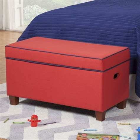 banc chambre enfant bout de lit coffre un meuble de rangement astucieux